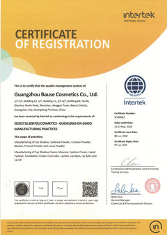 Bause ISO22716 certification